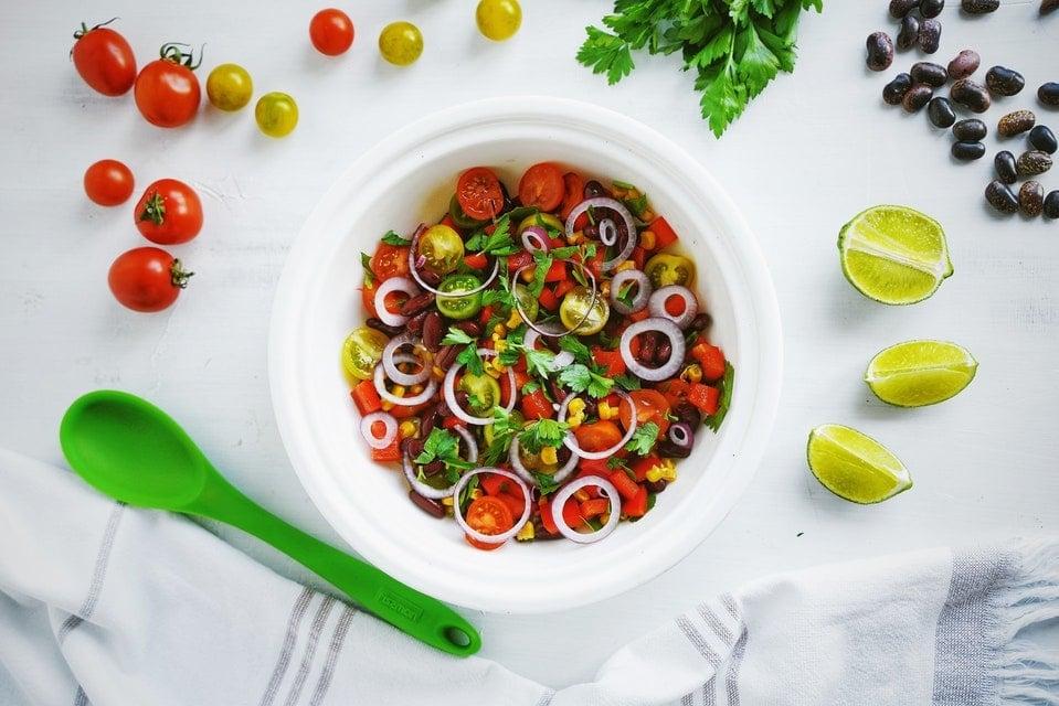 salade de tomates et citron vert