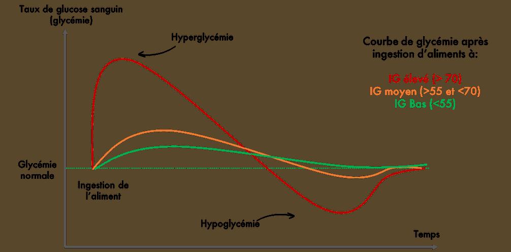 Courbes des Indices Glycémiques