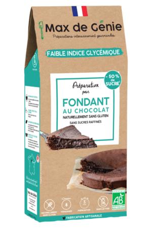 Préparation pour fondant au chocolat sans gluten