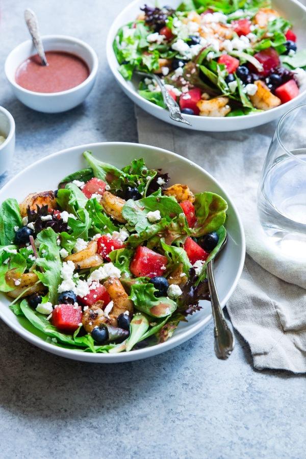 Salades assaisonnées