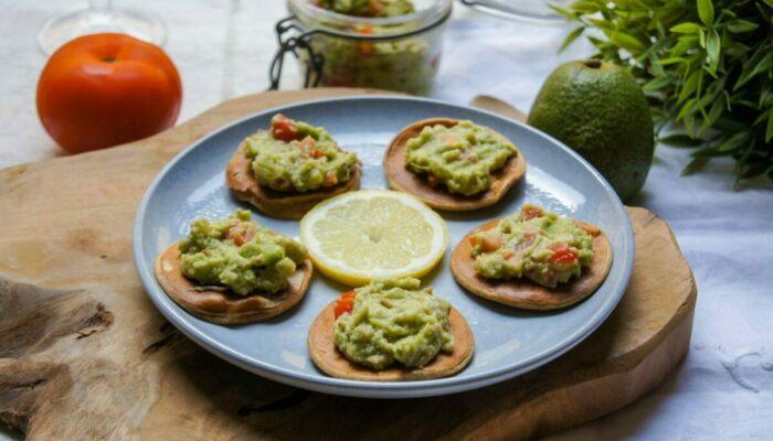 Blinis au guacamole