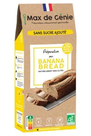 Préparation pour banana bread sans gluten