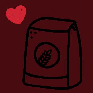 icône farine de blé et coeur