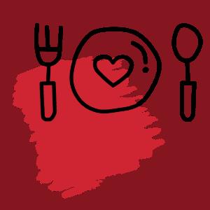 icône assiette coeur