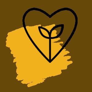 icône coeur et feuille
