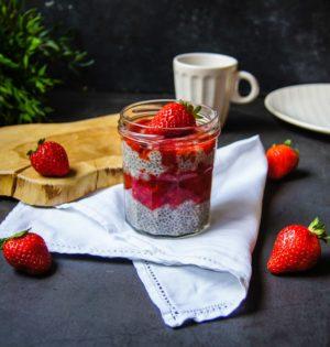 Chia pudding aux fraises