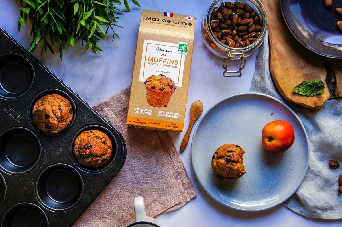 Muffin végan aux pommes