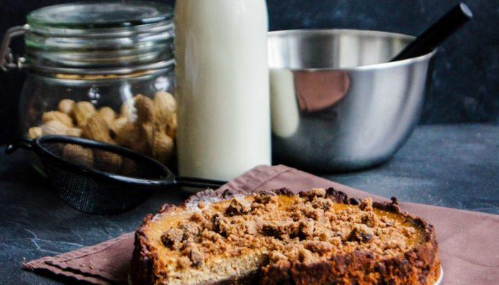 Cheesecake base cookie cacahuète