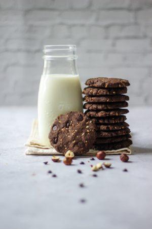 Cookies choco noisettes à la farine de sarrasin