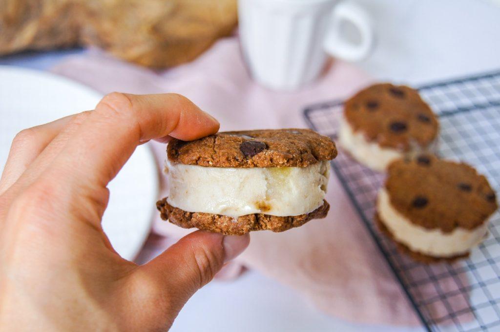 Cookies ice cream sandwich