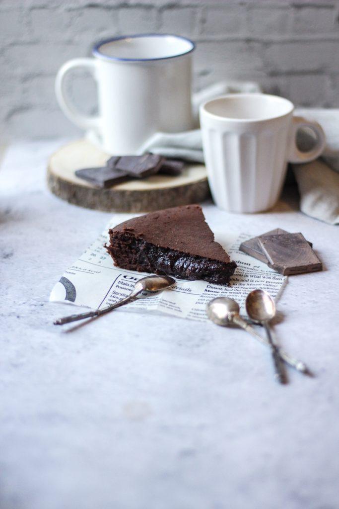 Présentation produit part de fondant au chocolat