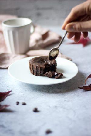 Présentation produit fondant au chocolat miniature