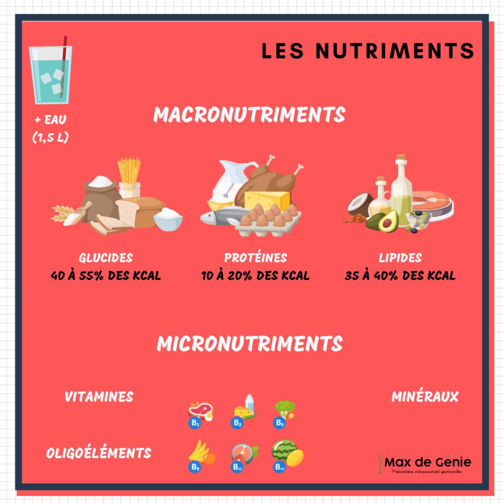 Infographie les nutriments