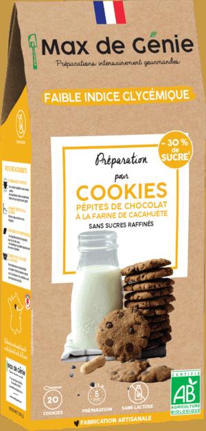 Packaging cookies aux pépites de chocolat à la farine de cacahuète