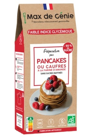 Packaging Préparation pour Pancakes ou gaufres à la farine d'amande