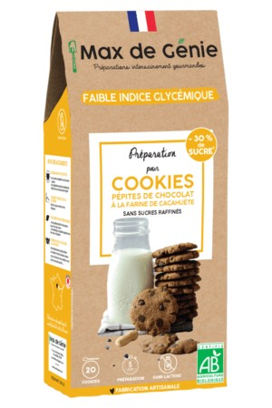 Préparation pour cookies aux pépites de chocolat à la farine de cacahuète