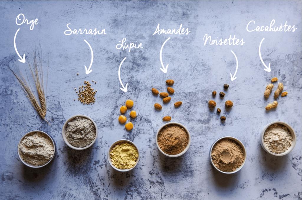 Présentation ingrédients farines horizontale