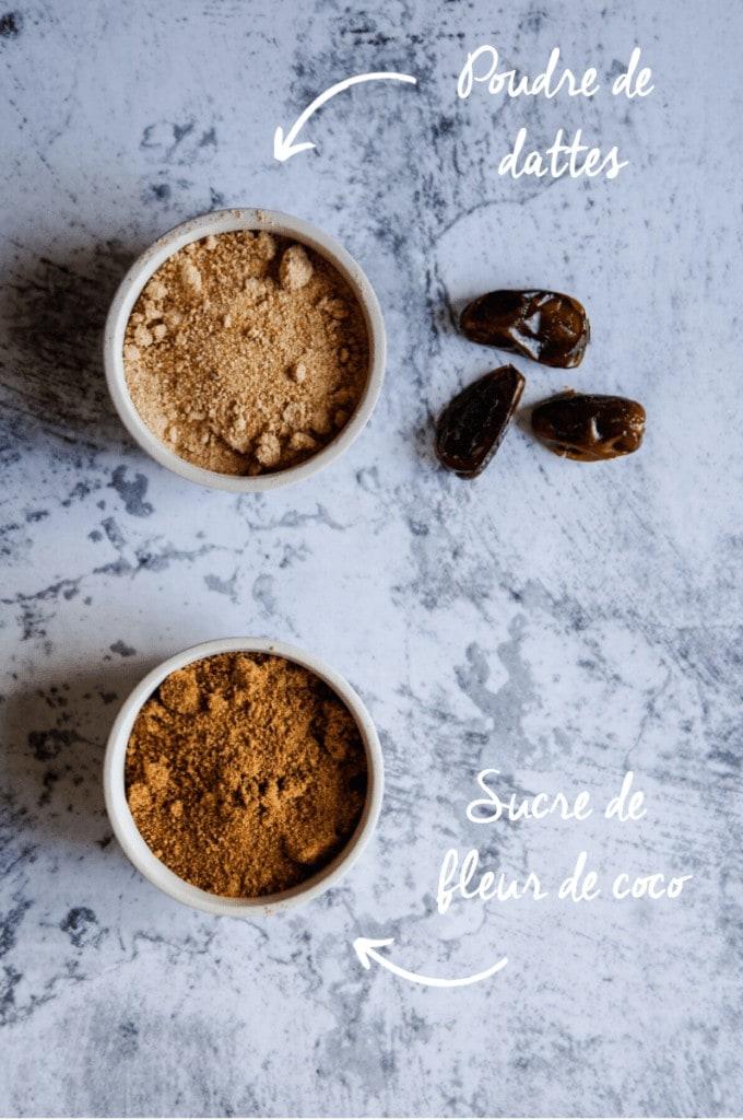 Présentation ingrédients sucres verticale