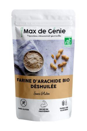 packaging farine de cacahuète bio déshuilée
