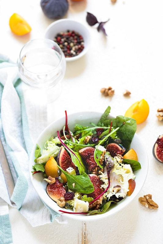 Salade figues par Un déjeuner au soleil