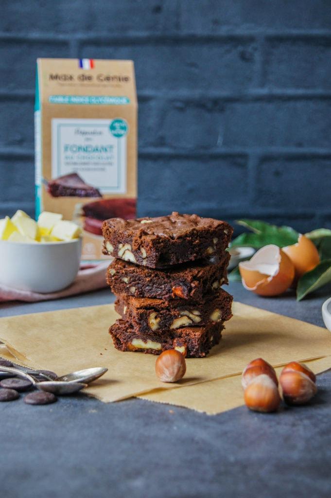 Brownie fondant au Chocolat Max de Génie