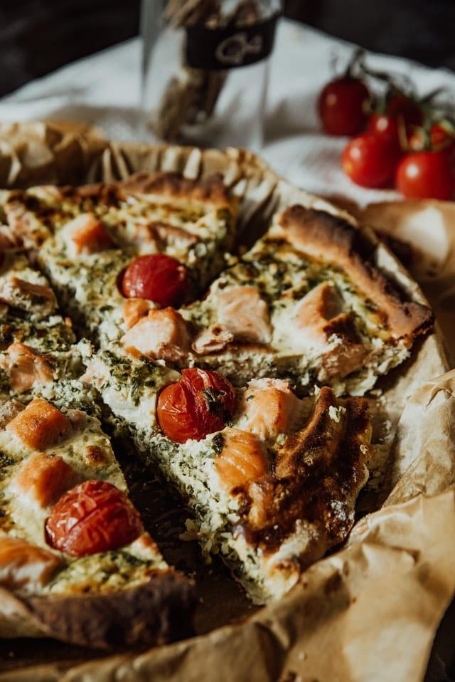 tarte au saumon et tomates