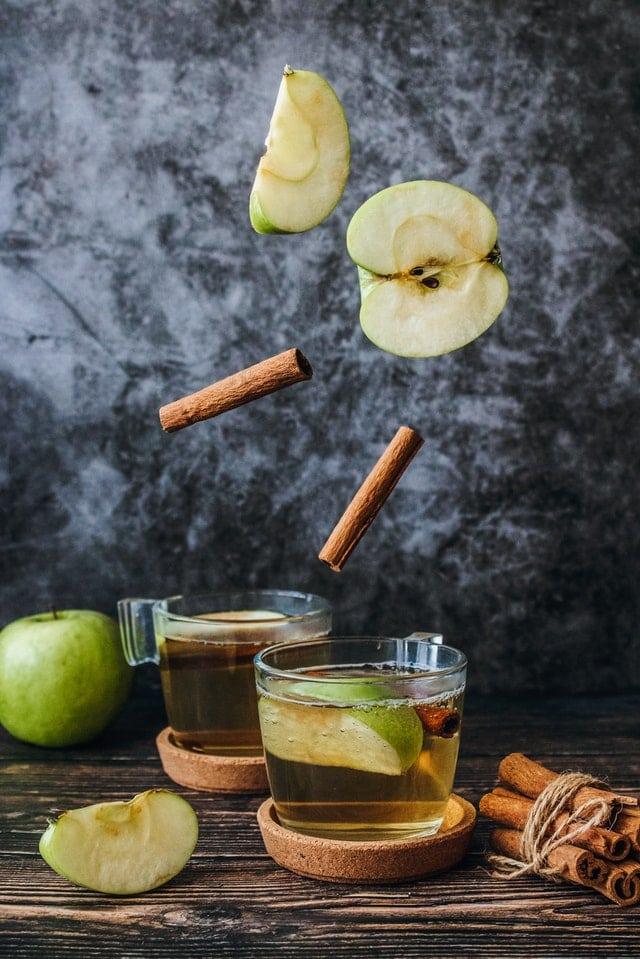 eau détox pomme cannelle