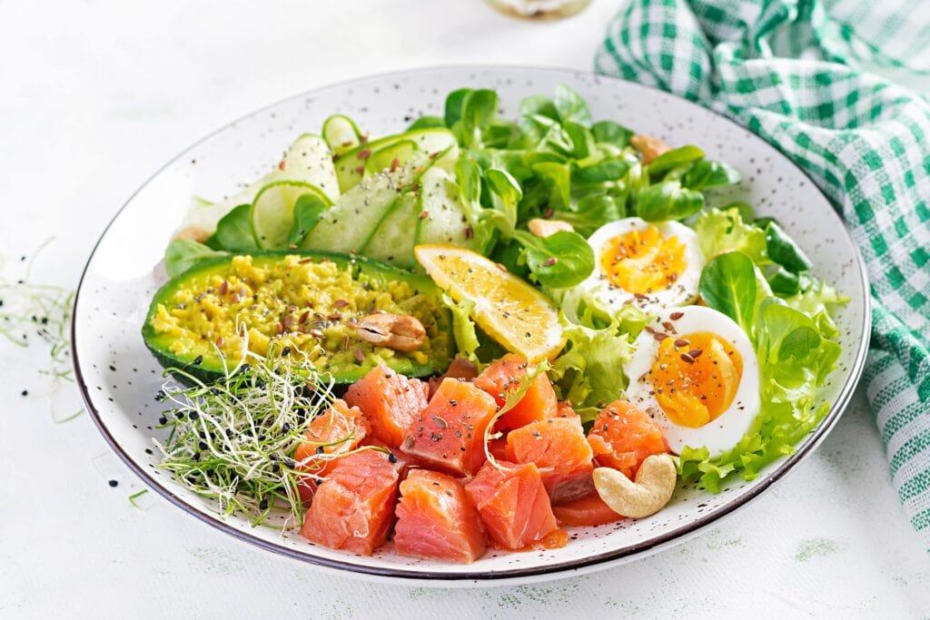 Assiette repas cétogène