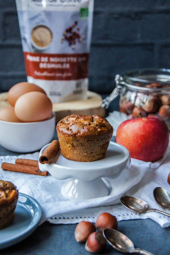 Muffins noisettes pommes cannelle