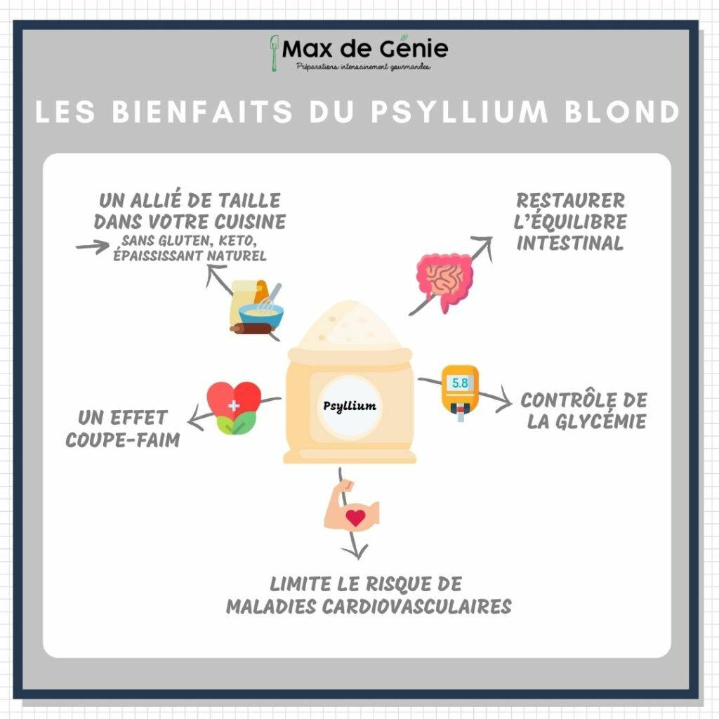 Infographie Les bienfaits du psyllium
