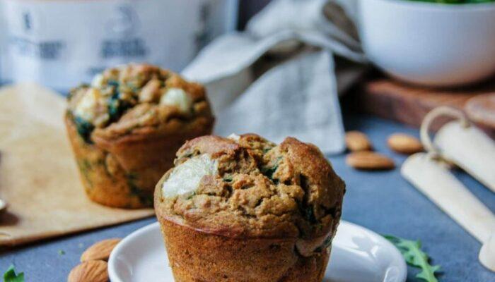 Recette muffins salés keto chèvre et épinards