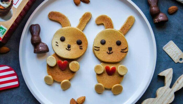 Pancakes lapins pour Pâques