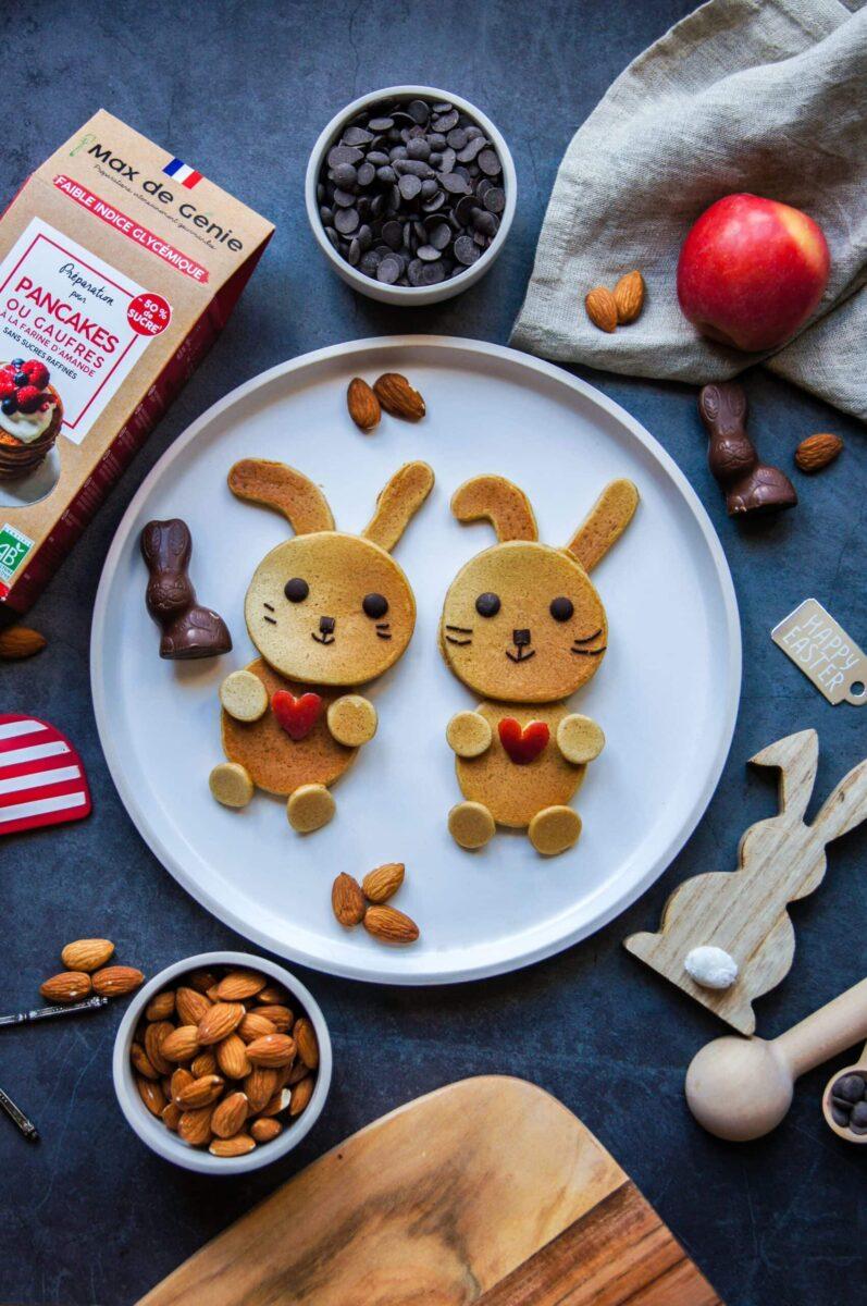 Pancakes lapins de Pâques