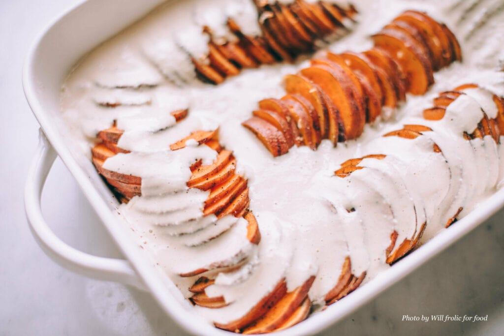 gratin patates douces et lait de coco by Willfrolicforfood