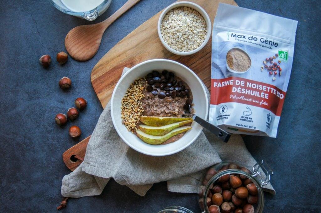 Porridge Praliné Farine de noisette