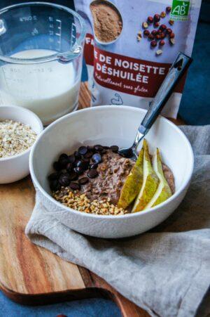 Porridge Praliné Farine de noisette vertical
