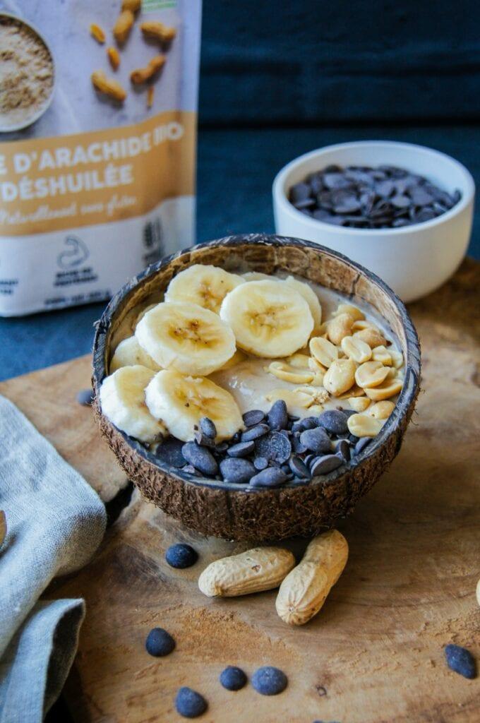 Smoothie Bowl Farine de cacahuète 2