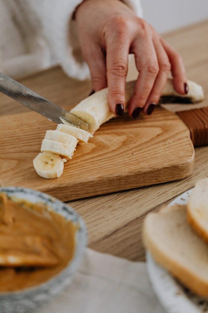 banane et beurre de cacahuète