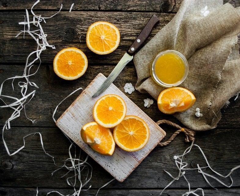 jus d'orange frais vitamine C