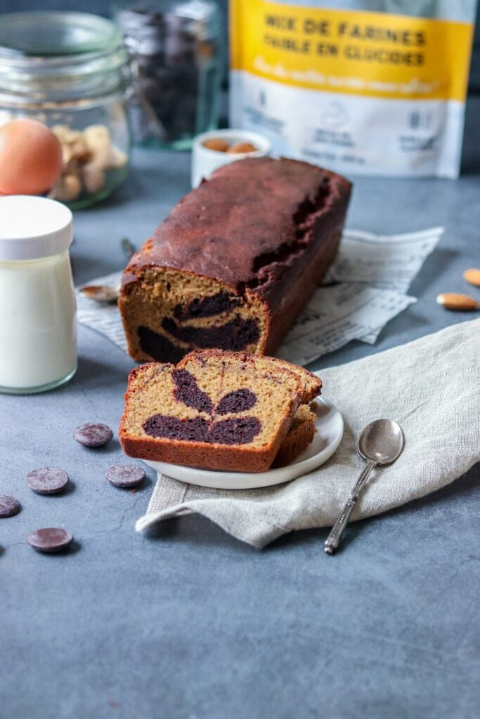 Cake marbré faibles en glucides-3