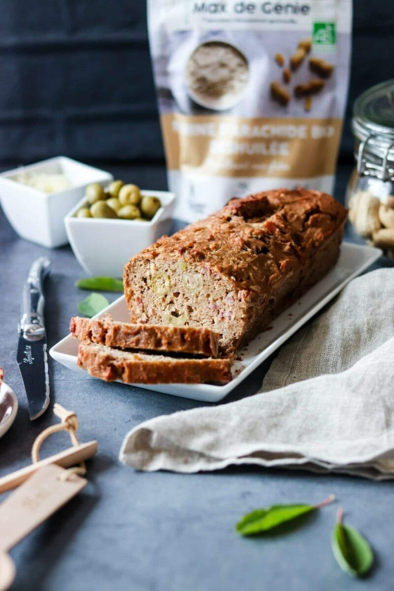 Cake salé farine d'arachide Max de Génie