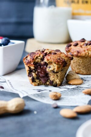 Muffins coeur coulant faible en glucides