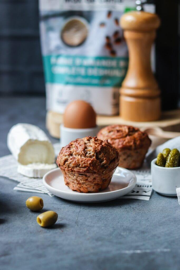 Muffins salés farine d'amande
