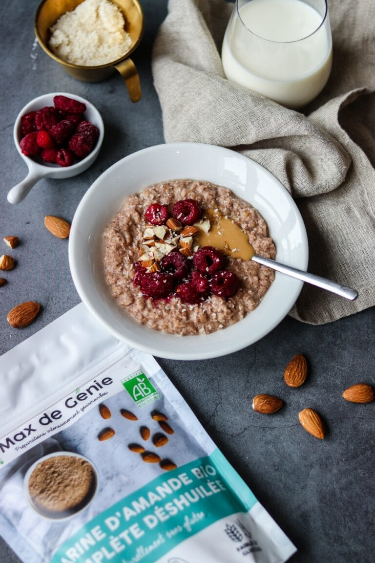 Porridge farine d'amande