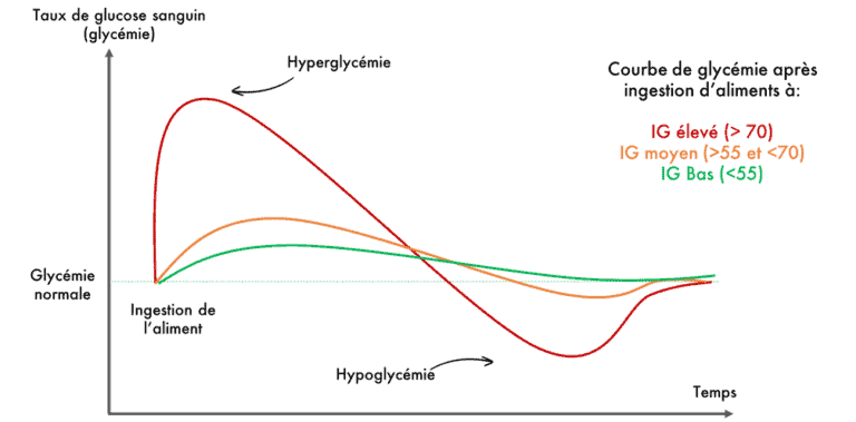 Courbes Indice glycémiques