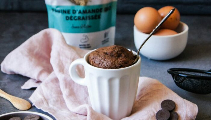 Recette de mug cake choco amande protéiné