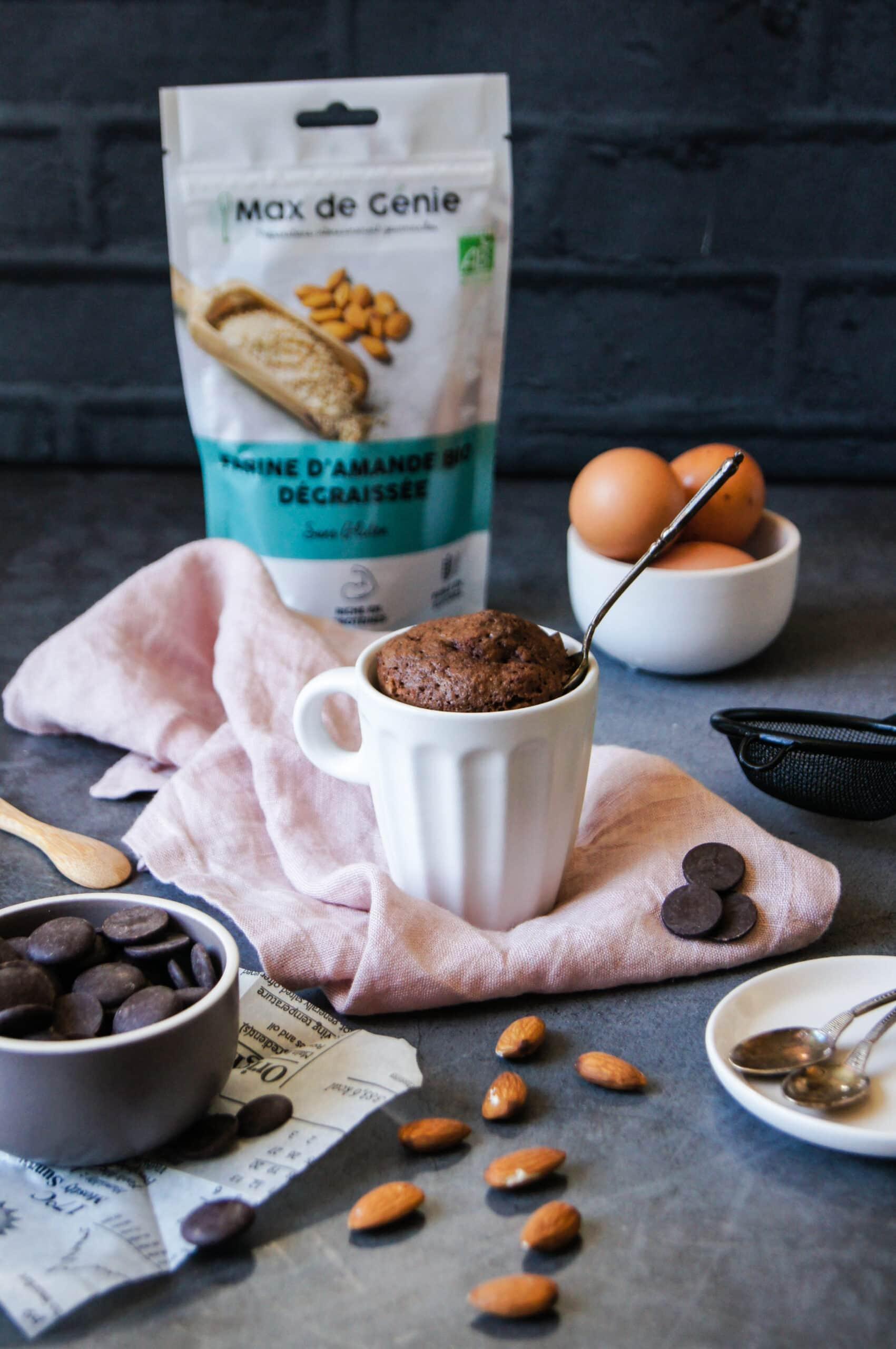 mug cake choco farine d'amande