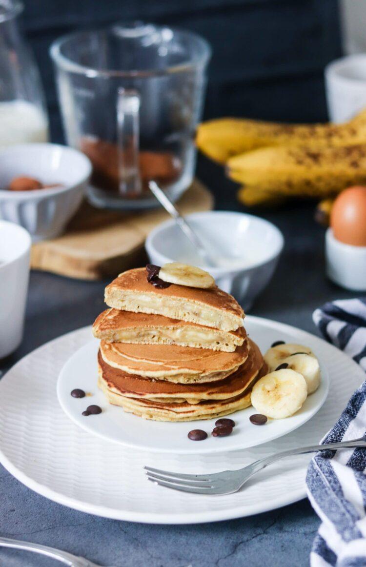 Pancakes fourrés banane-4