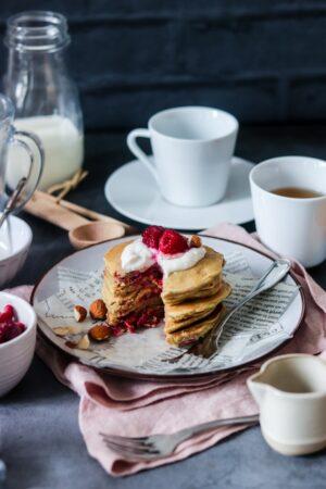 Pancakes fourrés framboises-4