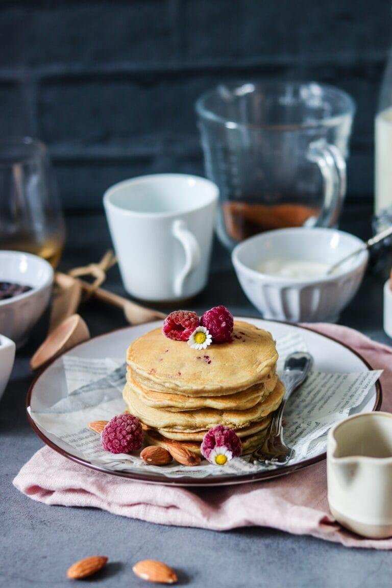 Pancakes fourrés framboises